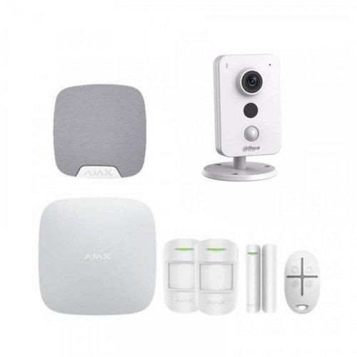 Комплект сигнализации Ajax для квартиры  + камера Dahua DH-IPC-K35P
