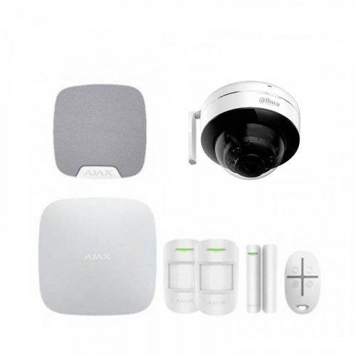 Комплект сигнализации Ajax для квартиры + камера Dahua DH-IPC-D26P