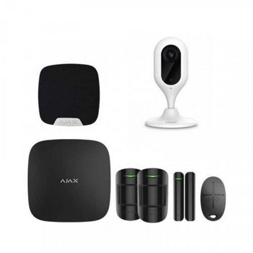Комплект сигнализации Ajax для квартиры черный + камера Dahua DH-IPC-C12P