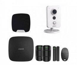 Комплект сигнализации для квартиры черный + камера Dahua DH-IPC-K35P