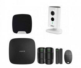 Комплект сигнализации для квартиры  черный + камера Dahua DH-IPC-C35P