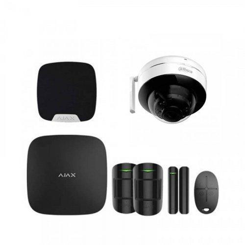 Комплект сигнализации Ajax для квартиры черный + камера Dahua DH-IPC-D26P