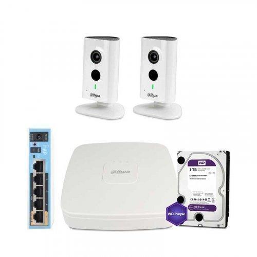 IP комплект видеонаблюдения Dahua WiFi-3M-2IN-HOME-C35P-HDD