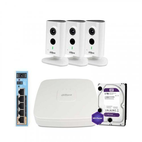 IP комплект видеонаблюдения Dahua WiFi-3M-3IN-HOME-C35P-HDD