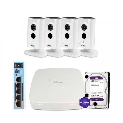 IP комплект видеонаблюдения Dahua WiFi-3M-4IN-HOME-C35P-HDD