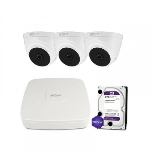 HDCVI комплект видеонаблюдения Dahua CVI-1M-3IN-PL-Lite