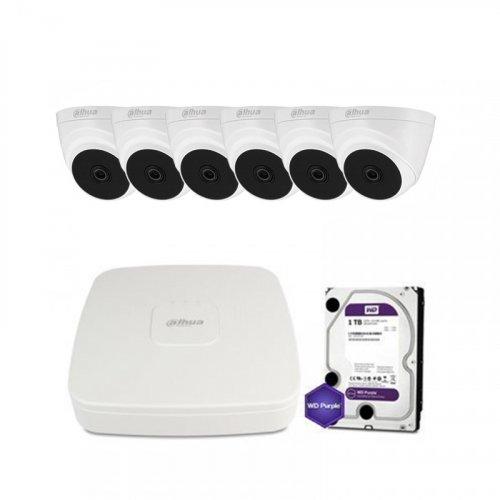 HDCVI комплект видеонаблюдения Dahua CVI-1M-6IN-PL-Lite