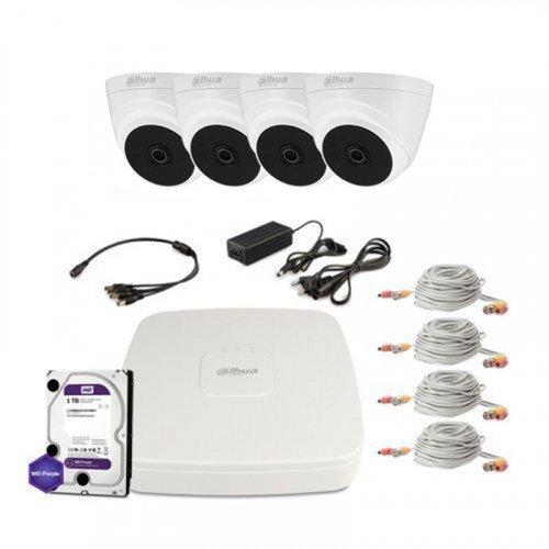 HDCVI комплект видеонаблюдения Dahua CVI-1M-4IN-PL-Lite-Full