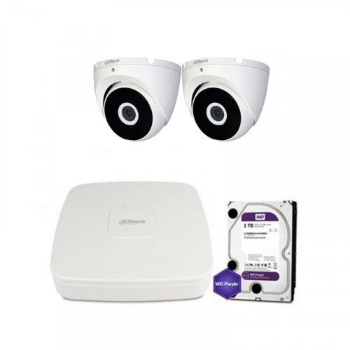 HDCVI комплект видеонаблюдения Dahua CVI-1M-2DOME-E-Lite