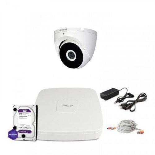 HDCVI комплект видеонаблюдения Dahua CVI-1M-1DOME-E-Lite-Full