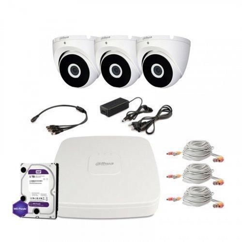 HDCVI комплект видеонаблюдения Dahua CVI-1M-3DOME-E-Lite-Full