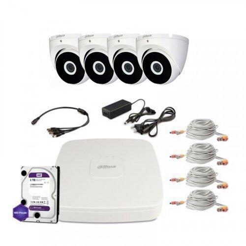 HDCVI комплект видеонаблюдения Dahua CVI-1M-4DOME-E-Lite-Full
