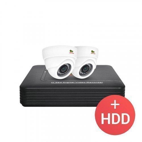 AHD комплект видеонаблюдения Partizan AHD-13 2xCAM + 1xDVR + HDD