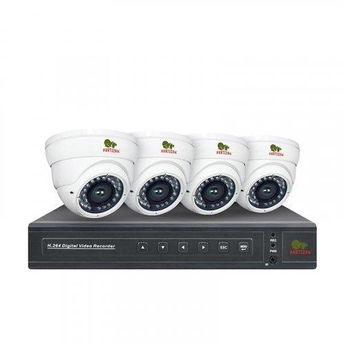 AHD комплект видеонаблюдения Partizan AHD-45 4xCAM + 1xDVR
