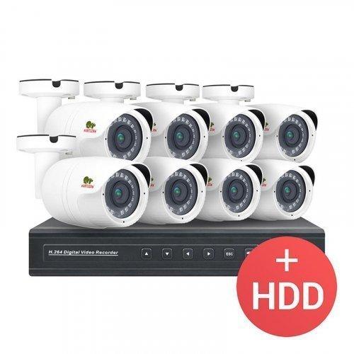 AHD комплект видеонаблюдения Partizan AHD-24 8xCAM + 1xDVR + HDD