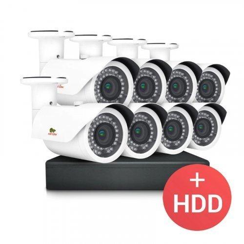 AHD комплект видеонаблюдения Partizan PRO AHD-26 8xCAM + 1xDVR + HDD