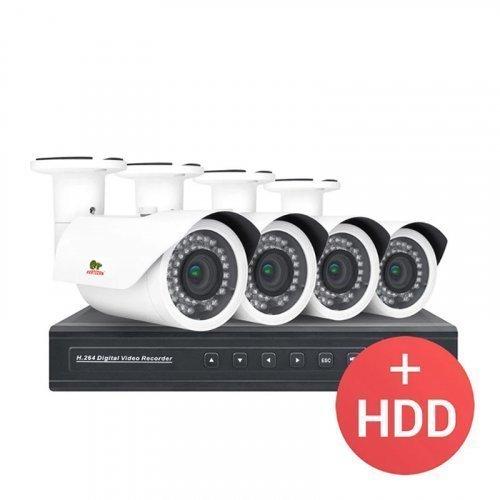 AHD комплект видеонаблюдения Partizan PRO AHD-35 4xCAM + 1xDVR + HDD