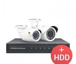 AHD комплект видеонаблюдения Partizan PRO AHD-36 2xCAM + 1xDVR + HDD