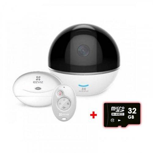 Поворотная Wi-Fi IP Камера EZVIZ CS-CV248 (C6T WITH RF) + Hub + брелок
