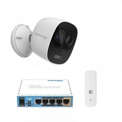 3G комплект видеонаблюдения с IP камерой IMOU Looc (Dahua IPC-C26EP)