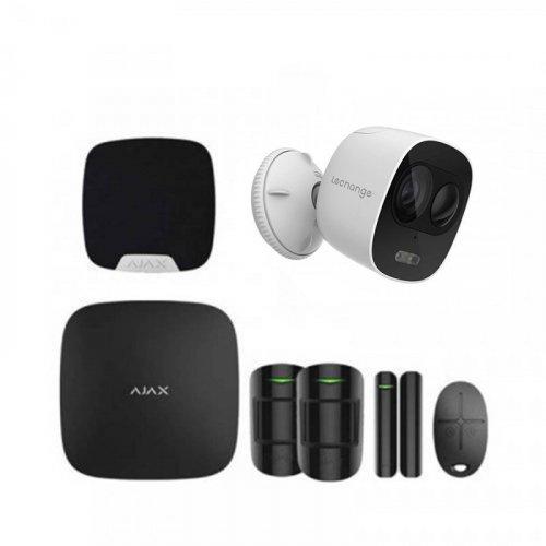 Комплект сигнализации Ajax для квартиры черный + камера IMOU Looc (Dahua IPC-C26EP)