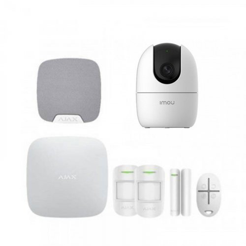 Комплект сигнализации Ajax для квартиры + камера IMOU Ranger 2 (Dahua IPC-A22EP)