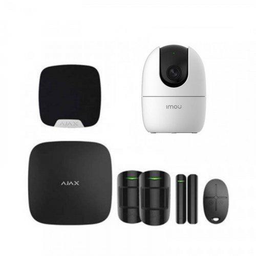 Комплект сигнализации Ajax для квартиры черный + камера IMOU Ranger 2 (Dahua A22EP)
