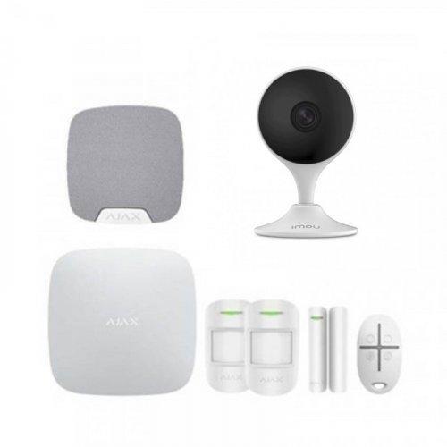Комплект сигнализации Ajax для квартиры + камера IMOU Cue 2 (Dahua IPC-C22EP)