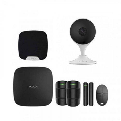 Комплект сигнализации Ajax для квартиры черный + камера IMOU Cue 2 (Dahua IPC-C22EP)