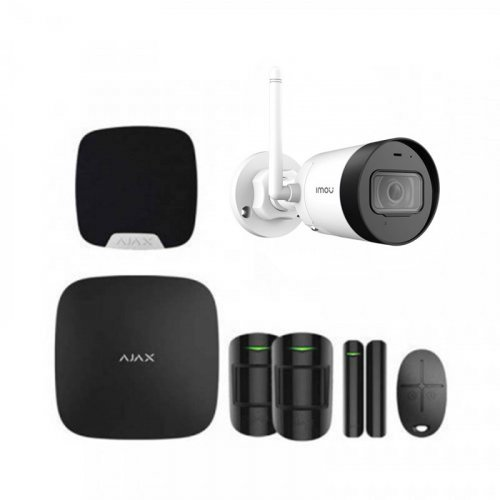 Комплект сигнализации Ajax для квартиры черный + камера IMOU Bullet Lite (Dahua G22P)