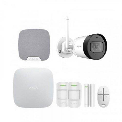 Комплект сигнализации Ajax для квартиры + камера IMOU Bullet Lite 4MP (Dahua IPC-G42P)