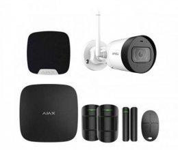 Комплект сигнализации Ajax для квартиры черный + камера IMOU Bullet Lite 4MP (Dahua IPC-G42P)