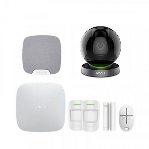 Комплект сигнализации Ajax для квартиры + камера IMOU Ranger Pro (Dahua IPC-A26HP)