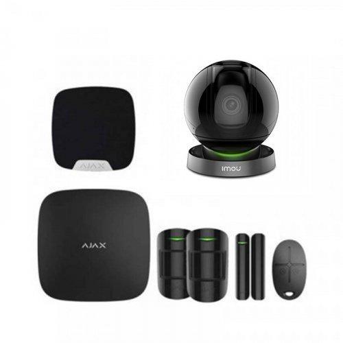 Комплект сигнализации Ajax для квартиры черный + камера IMOU Ranger Pro (Dahua IPC-A26HP)