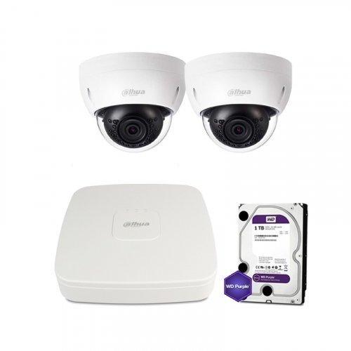 IP комплект видеонаблюдения Dahua IP-2M-2DOME-IK-Lite