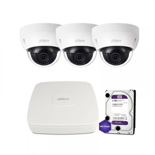IP комплект видеонаблюдения Dahua IP-2M-3DOME-IK-Lite