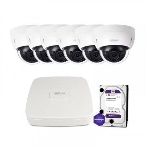 IP комплект видеонаблюдения Dahua IP-2M-6DOME-IK-Lite
