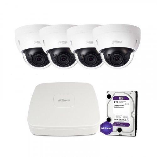 IP комплект видеонаблюдения Dahua IP-4M-4DOME-IK-Lite