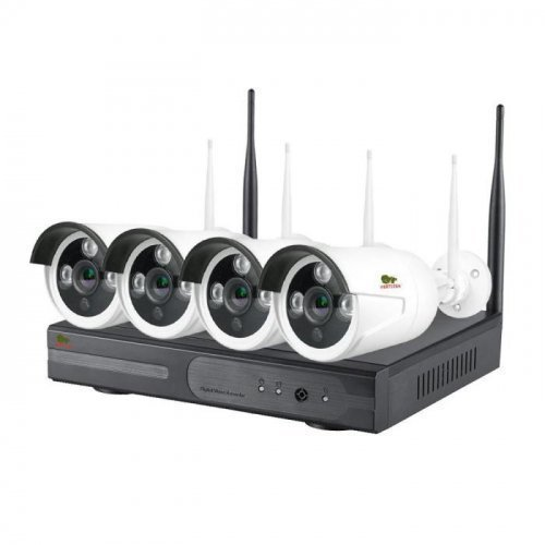 IP комплект видеонаблюдения Partizan Outdoor Wi-Fi IP-36 4xCAM + 1xNVR (v1.1)