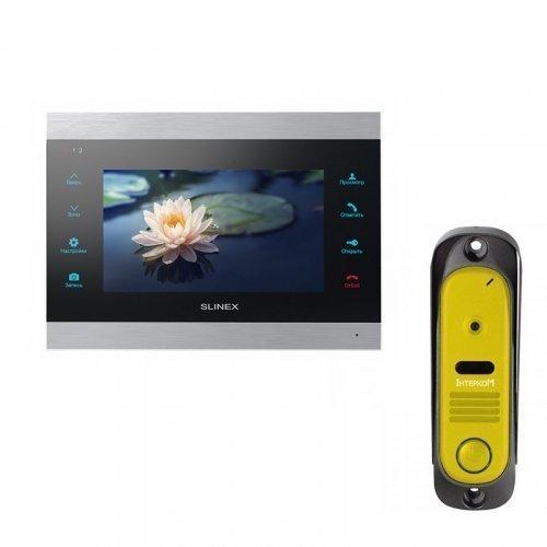 Комплект домофона Slinex SL-07IP Black и Intercom IM-10 Yellow