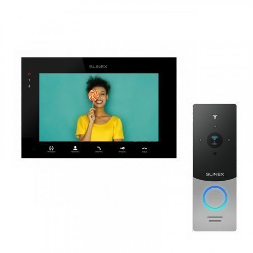 Комплект домофона Slinex SQ-07MTHD Black и Slinex ML-20HD Gray