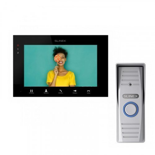 Комплект домофона Slinex SQ-07MTHD Black и Slinex ML-15HD Gray