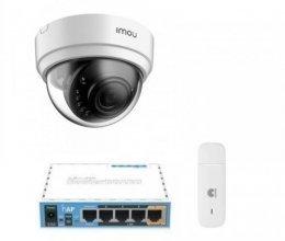 3G комплект видеонаблюдения с IP камерой IMOU Dome Lite (Dahua IPC-D42P)