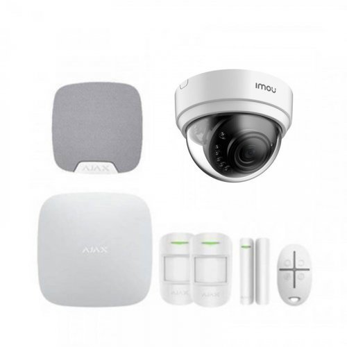 Комплект сигнализации Ajax для квартиры + камера IMOU Dome Lite (Dahua IPC-D42P)