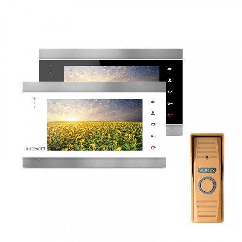 Комплект домофона Intercom IM-02 и Slinex ML-15HR Gold