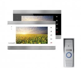 Комплект домофона Intercom IM-02 и Slinex ML-15HR Gray