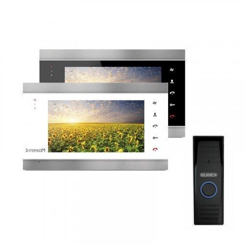 Комплект домофона Intercom IM-02 и Slinex ML-15HR Black