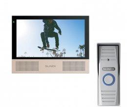 Комплект домофона Slinex Sonik 7 Black и Slinex ML-15HD Gray