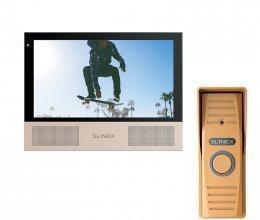 Комплект домофона Slinex Sonik 7 Black и Slinex ML-15HD Copper