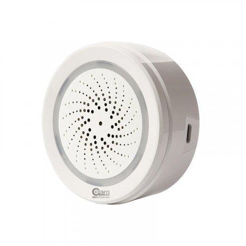 Сирена Tuya Smart Wi-Fi Siren с датчиком температуры и влажности